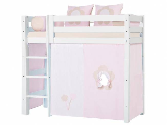 hoppekids fairytale flower vorhang f r midisleeper etagenbett 70x160cm hoppekid. Black Bedroom Furniture Sets. Home Design Ideas
