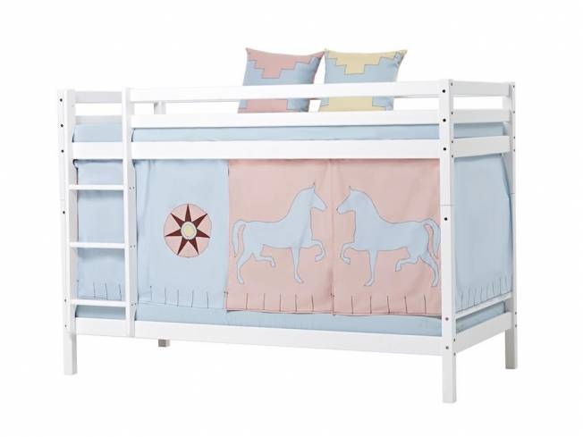 hoppekids indian girl vorhang f r spielbett oder etagenbett 90x200cm. Black Bedroom Furniture Sets. Home Design Ideas