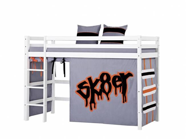 hoppekids skater vorhang f r hochbett midisleeper etagenbett 90x200cm. Black Bedroom Furniture Sets. Home Design Ideas