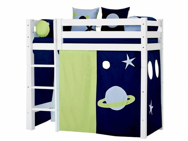 hoppekids space vorhang f r midisleeper etagenbett 70x160cm. Black Bedroom Furniture Sets. Home Design Ideas