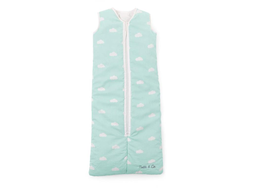 childhome baby sommer schlafsack 70 90cm snoozy clouds mint blue. Black Bedroom Furniture Sets. Home Design Ideas
