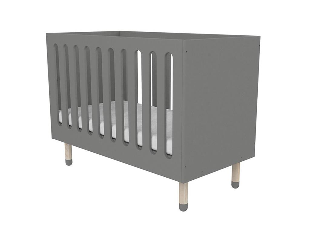 flexa babybett play 60x120cm grau organisch geformt. Black Bedroom Furniture Sets. Home Design Ideas