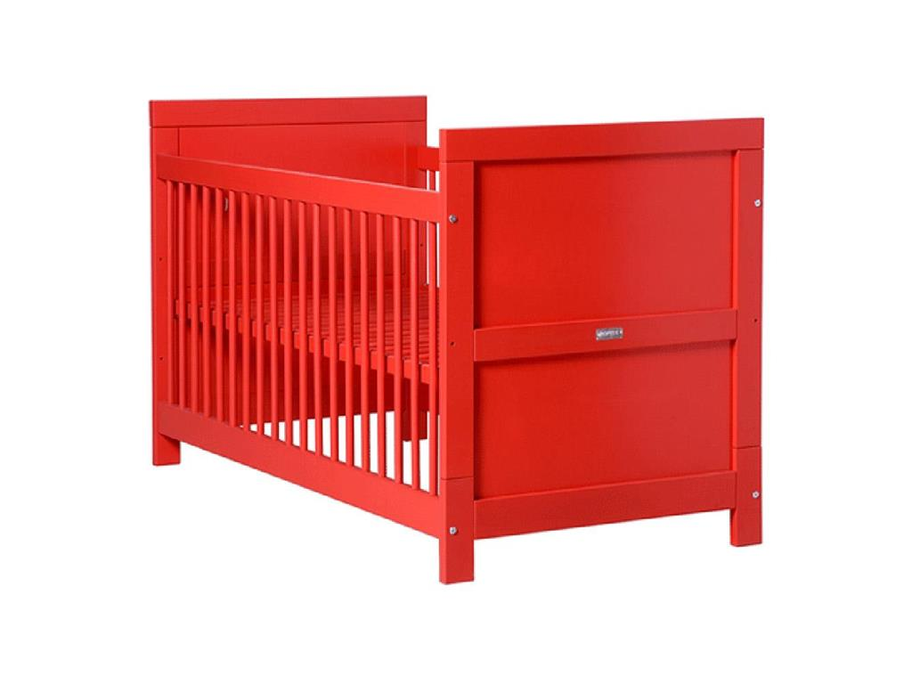 bopita mix match babybett rot 70x140cm lattenrost 2x h henverstellbar. Black Bedroom Furniture Sets. Home Design Ideas