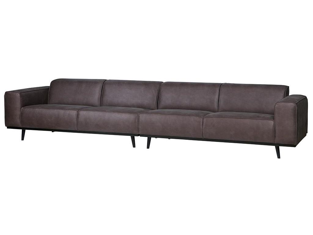 bepurehome statement 4 sitzer sofa l nge 360cm eco leder grau. Black Bedroom Furniture Sets. Home Design Ideas