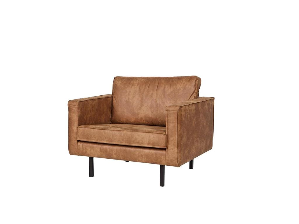 BEPUREHOME Rodeo Sessel Lederlook Cognac 378608-B