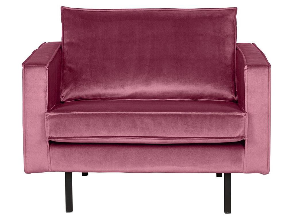 BEPUREHOME Rodeo Sessel Samt Pink 800541-73