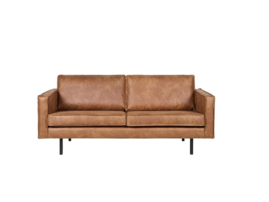 BEPUREHOME Rodeo Sofa Lederlook Cognac 2,5 Sitzer 378609-B
