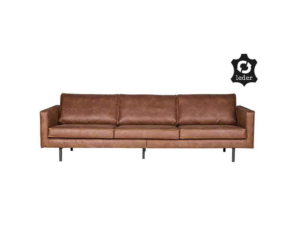 BEPUREHOME Rodeo Sofa Lederlook Cognac 3 Sitzer 378618-B