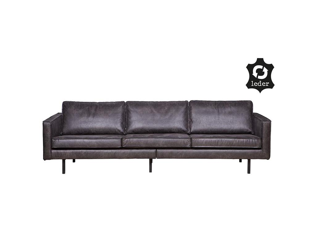 bepurehome rodeo sofa lederlook schwarz 3 sitzer. Black Bedroom Furniture Sets. Home Design Ideas