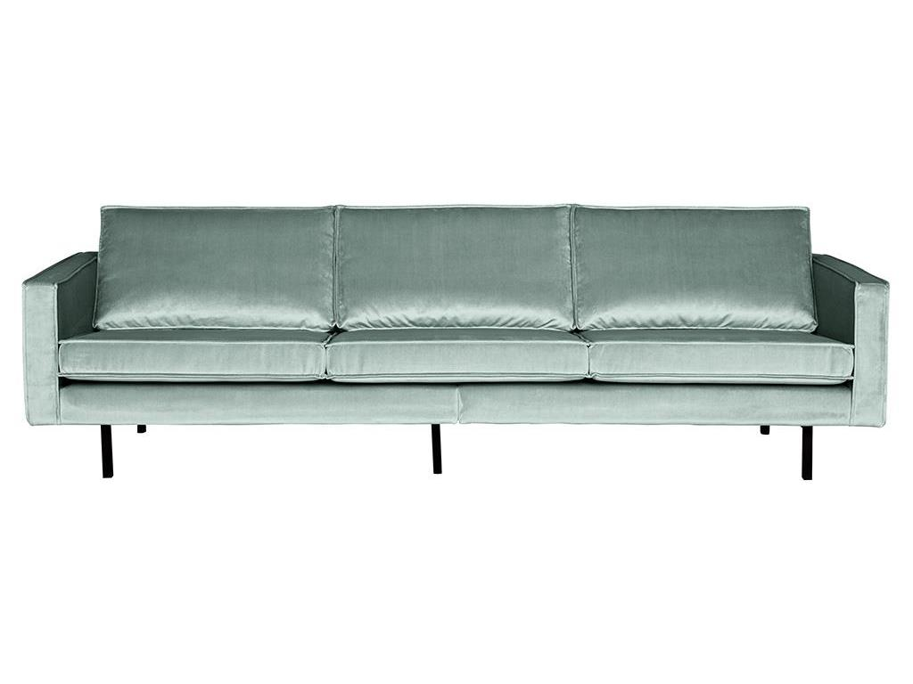 BEPUREHOME Rodeo Sofa Samt Mint 3 Sitzer 800543-144