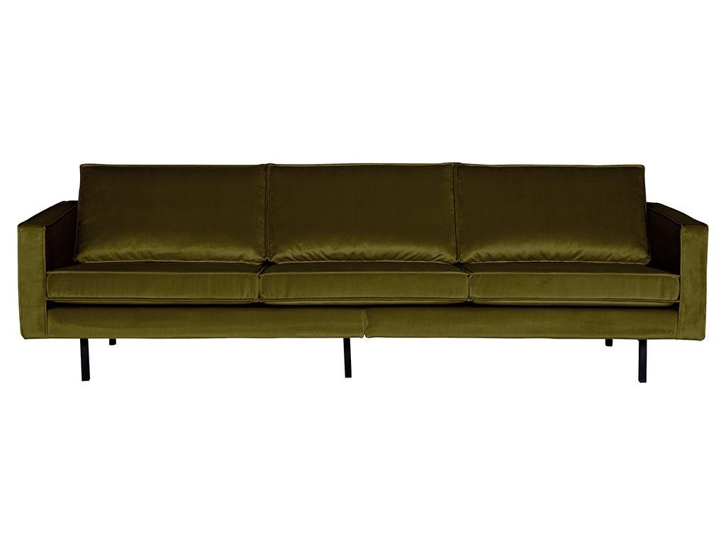 BEPUREHOME Rodeo Sofa Samt Olive 3 Sitzer 800543-53