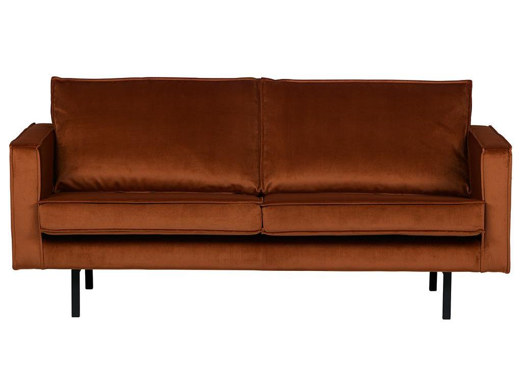 BEPUREHOME Rodeo Sofa Samt Rost 2,5 Sitzer 800542-126