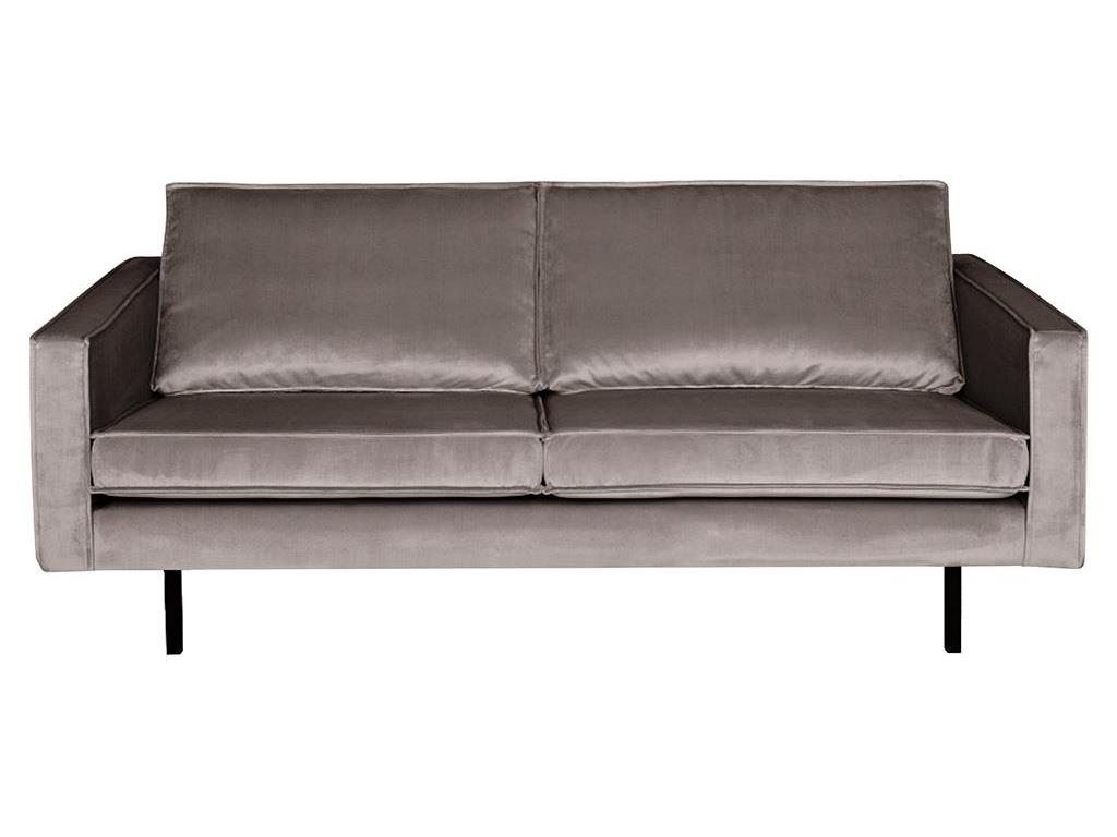 BEPUREHOME Rodeo Sofa Samt Taupe 2,5 Sitzer 800542-12