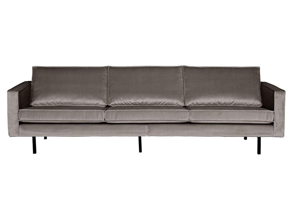 BEPUREHOME Rodeo Sofa Samt Taupe 3 Sitzer 800543-12