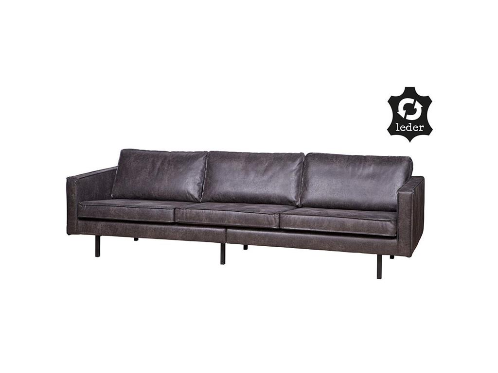 bepurehome rodeo sofa schwarz 3 sitzer. Black Bedroom Furniture Sets. Home Design Ideas