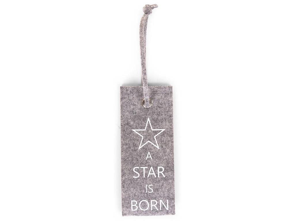 Childhome anh nger aus filz grau spruch a star is born for A star is born kids salon