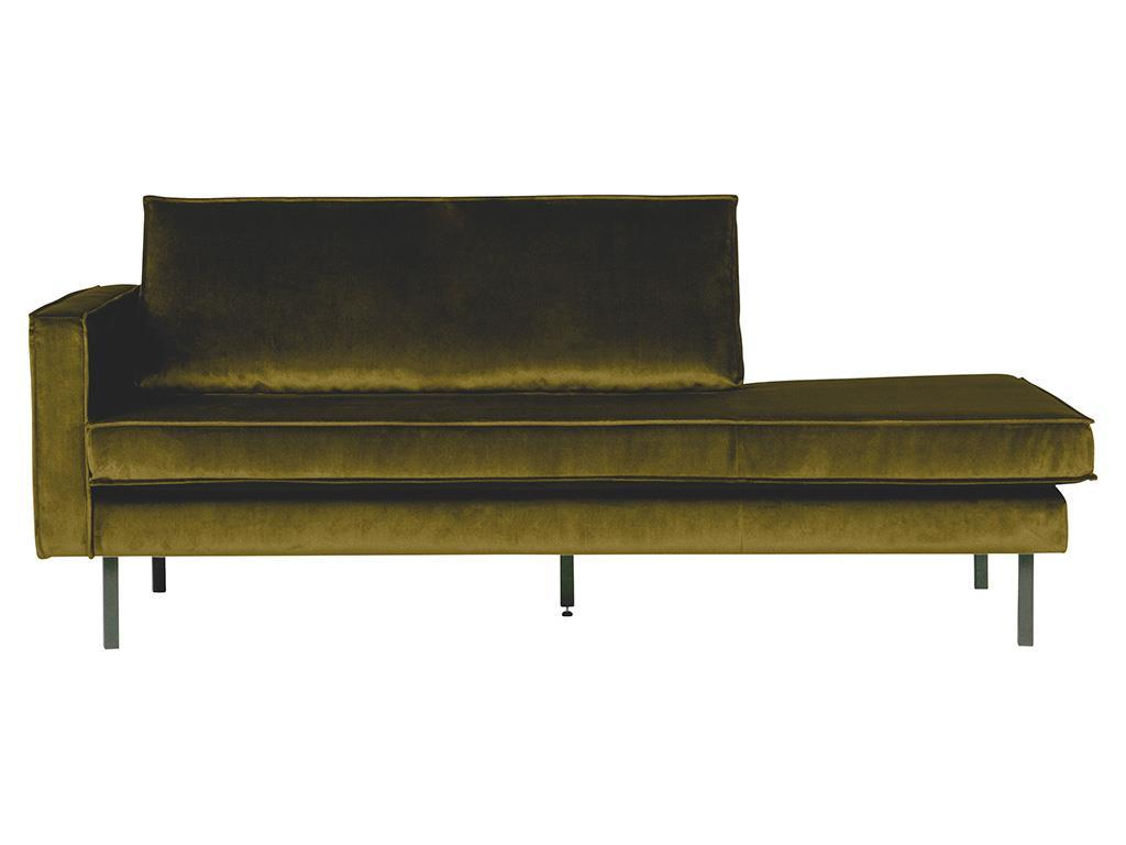 BEPUREHOME Rodeo Daybed Links Samt Olive 800743-53