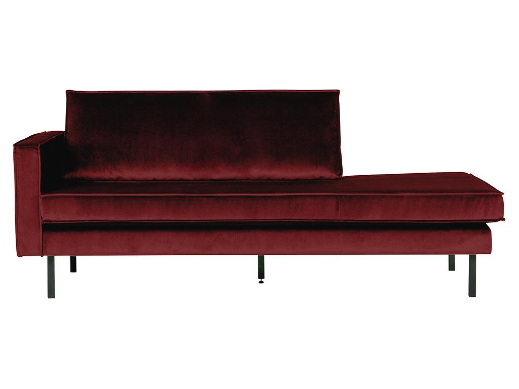 BEPUREHOME Rodeo Daybed Links Samt Rot 800743-39