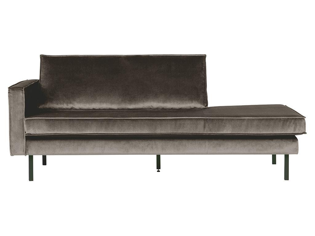 BEPUREHOME Rodeo Daybed Links Samt Taupe 800743-12