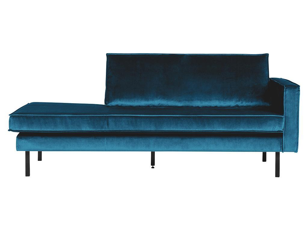 BEPUREHOME Rodeo Daybed Rechts Samt Blau 800746-45