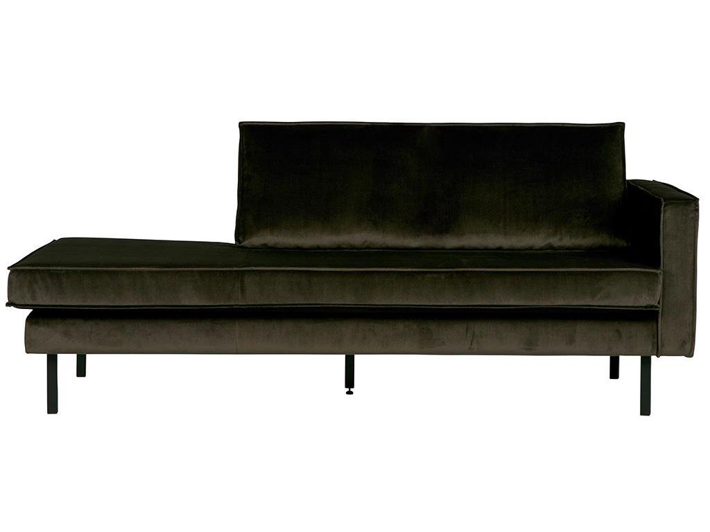 BEPUREHOME Rodeo Daybed Rechts Samt Dark Green Hunter 800746-156