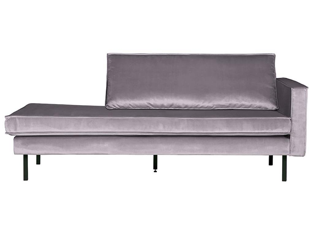 BEPUREHOME Rodeo Daybed Rechts Samt Hellgrau 800746-149