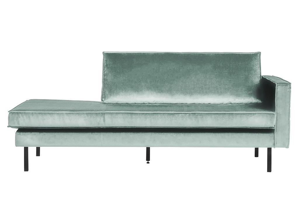 BEPUREHOME Rodeo Daybed Rechts Samt Mint 800746-144