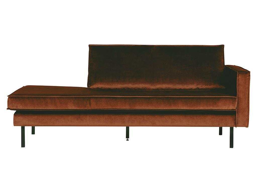 BEPUREHOME Rodeo Daybed Rechts Samt Rost 800746-126