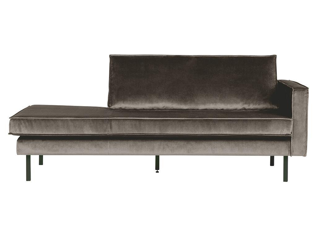 BEPUREHOME Rodeo Daybed Rechts Samt Taupe 800746-12