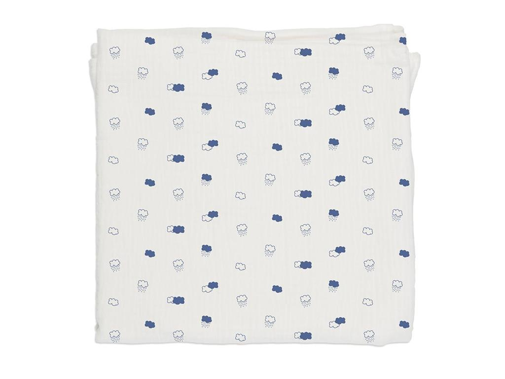 BABY BITES Decke Blue Clouds 120x120cm 003-MUSE...