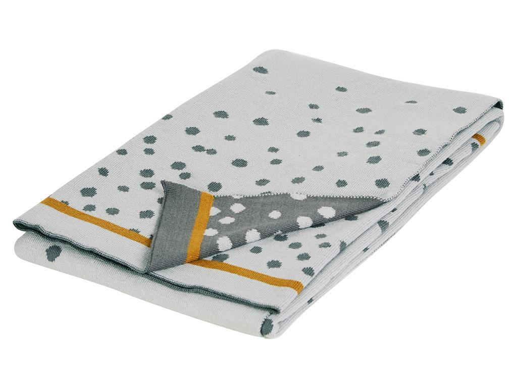 DONE BY DEER™ Strickdecke Happy Dots Grey 80x10...