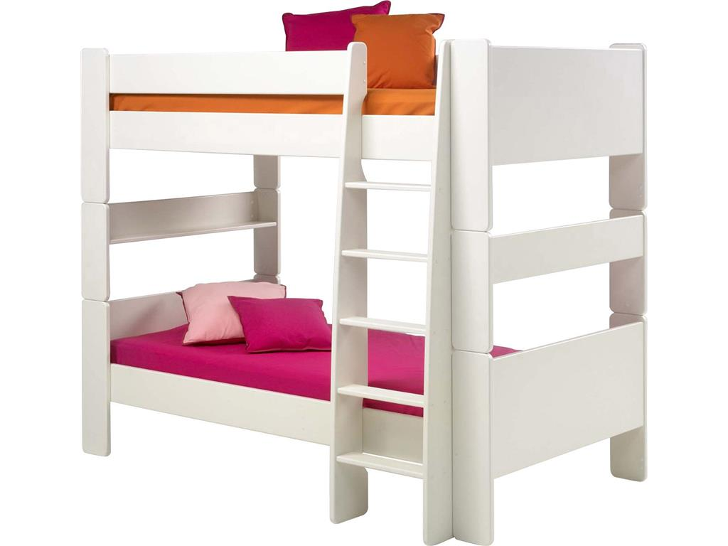 steens for kids etagenbett wei mit rolllattenrost und gerader leiter. Black Bedroom Furniture Sets. Home Design Ideas