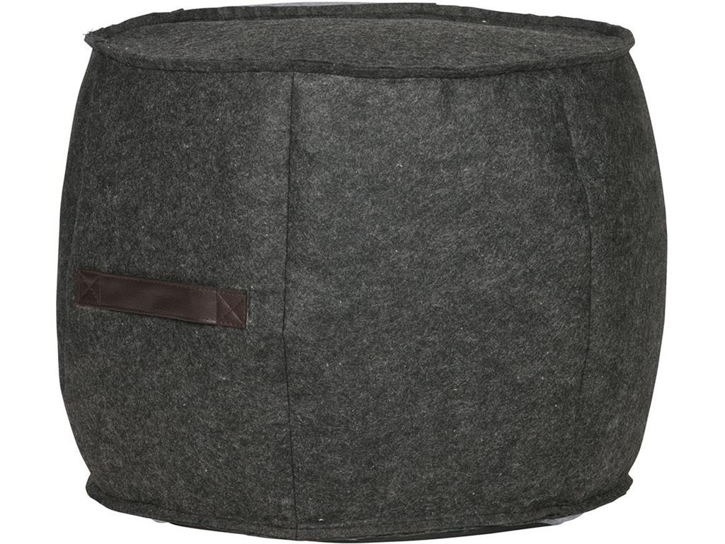 WOOOD Filz Pouf Anthrazit Hocker Tijl 373589-A
