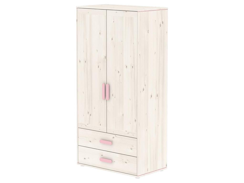 flexa harmony kleiderschrank mit 2 t ren und 2 schubladen. Black Bedroom Furniture Sets. Home Design Ideas