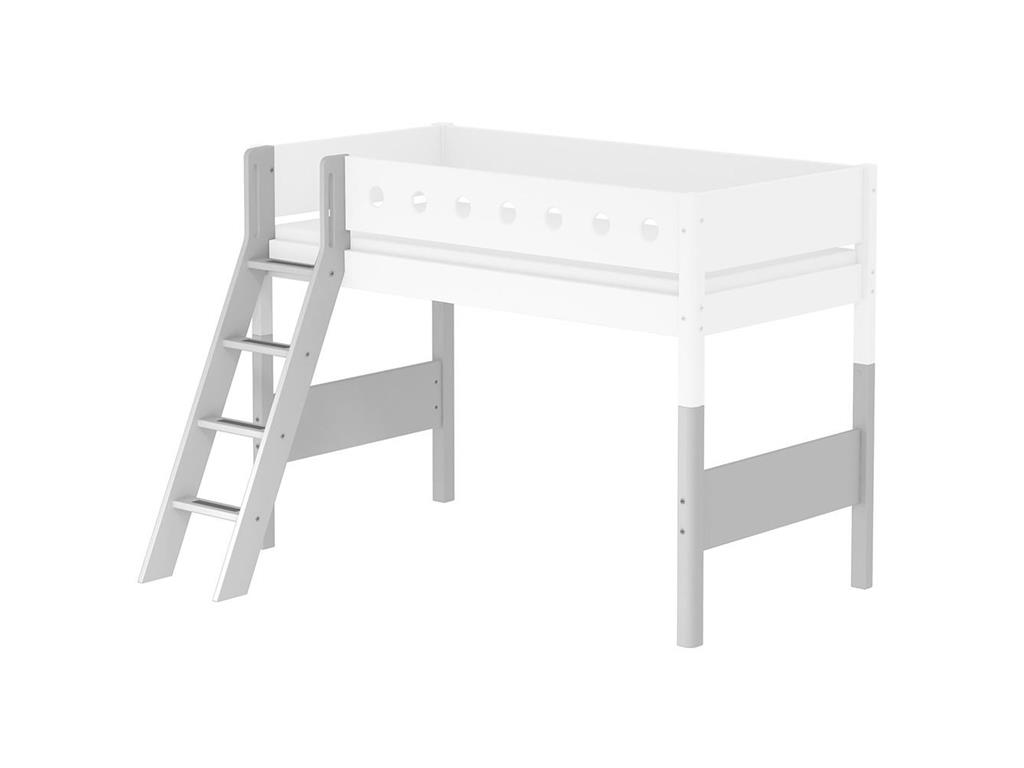flexa white umbausatz f r mittelhochbett schr ge leiter h he 143cm. Black Bedroom Furniture Sets. Home Design Ideas
