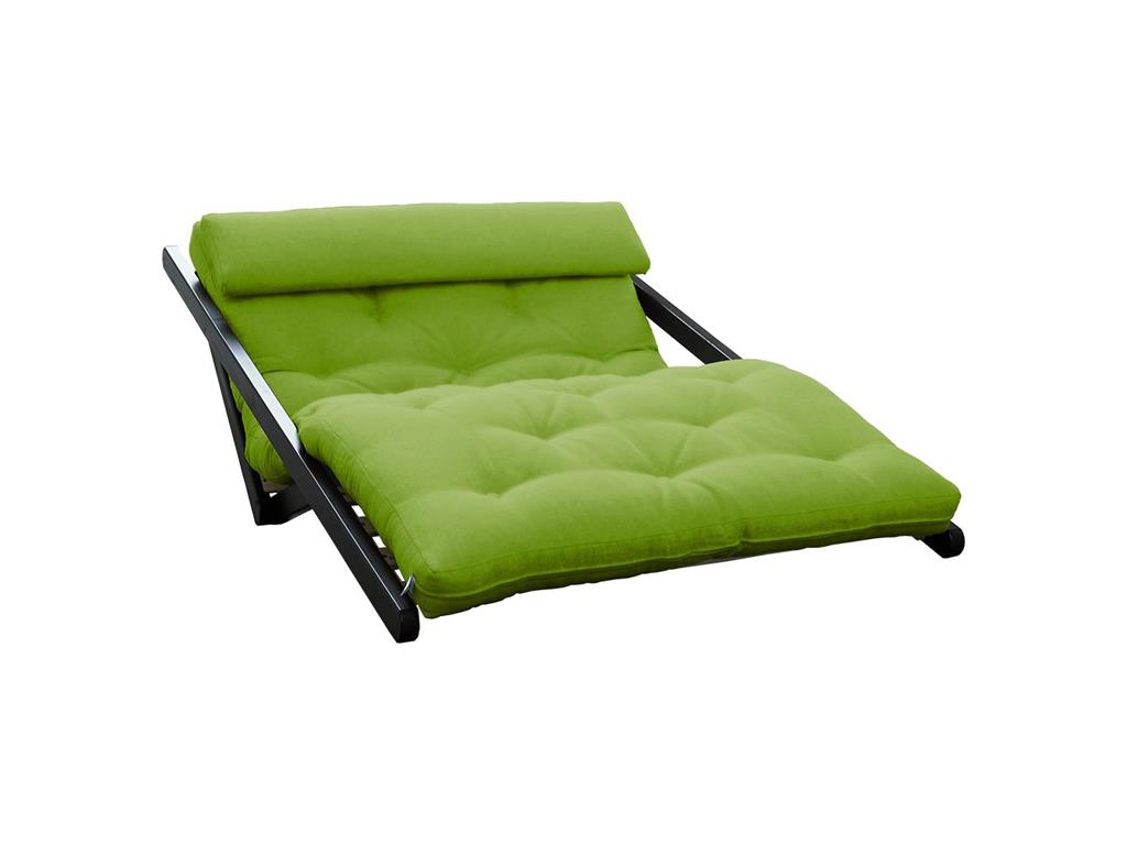 karup futon lounge sofa mit matratze lime gestell kiefer wenge karup figo. Black Bedroom Furniture Sets. Home Design Ideas