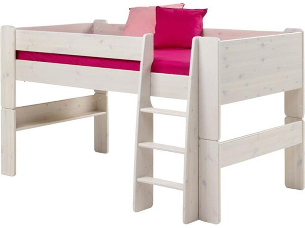 steens for kids halbhochbett mit gerader leiter kiefer massiv. Black Bedroom Furniture Sets. Home Design Ideas