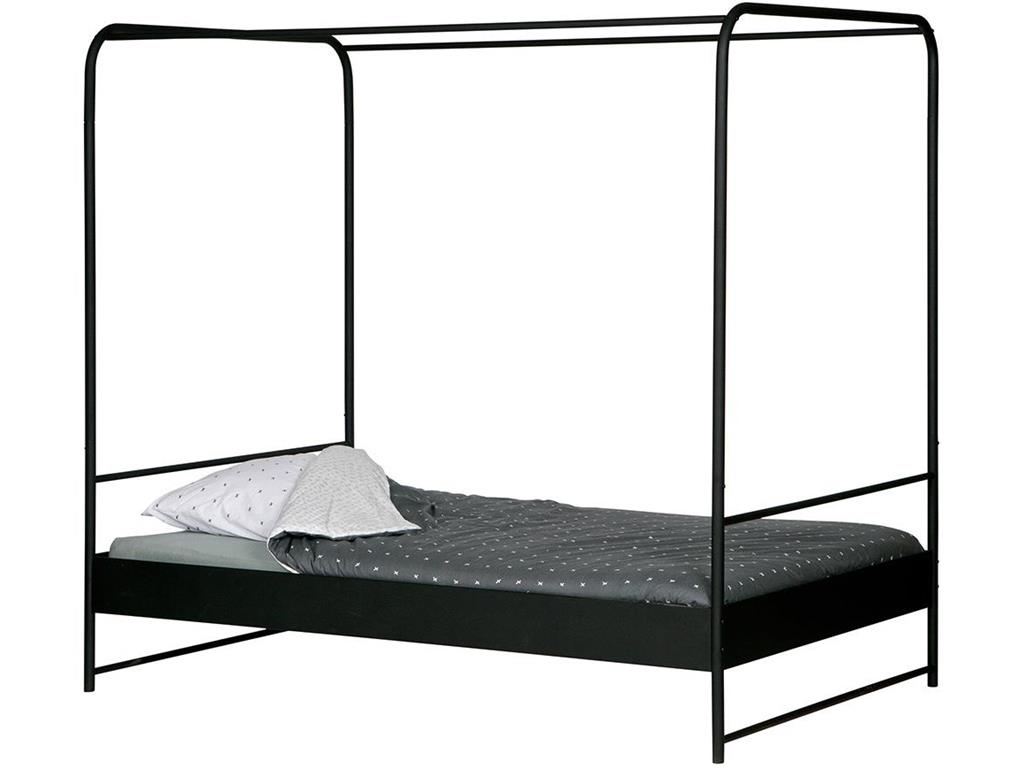 vtwonen bunk himmelbett metall schwarz 90x200cm. Black Bedroom Furniture Sets. Home Design Ideas