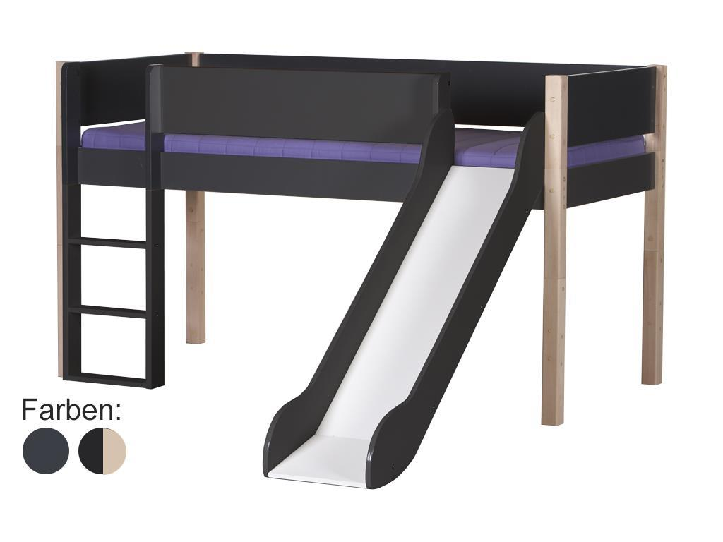 manis h hochbett buche mit rutsche spielbett inkl. Black Bedroom Furniture Sets. Home Design Ideas