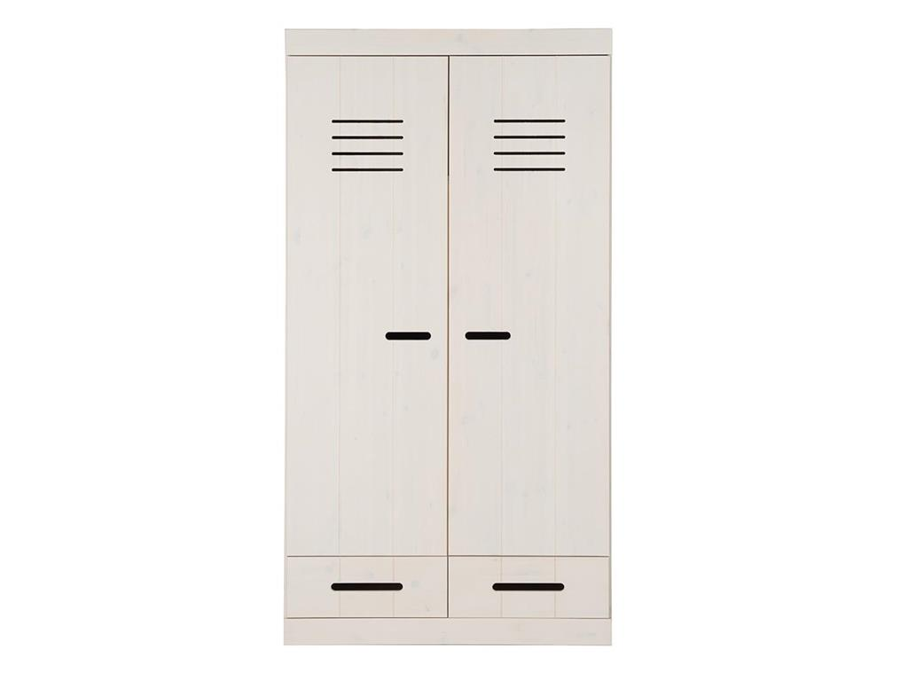 infanskids kleiderschrank 2 t rig wei h he 195cm. Black Bedroom Furniture Sets. Home Design Ideas