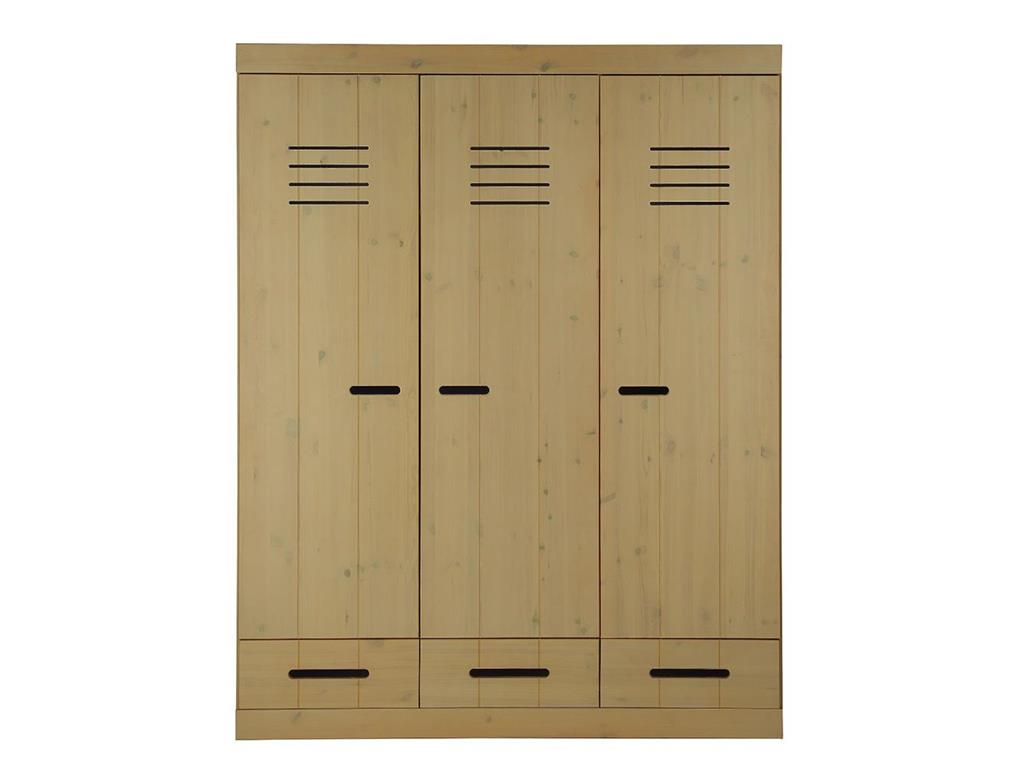 infanskids kleiderschrank 3 t rig laugenfarbig h he 195cm. Black Bedroom Furniture Sets. Home Design Ideas