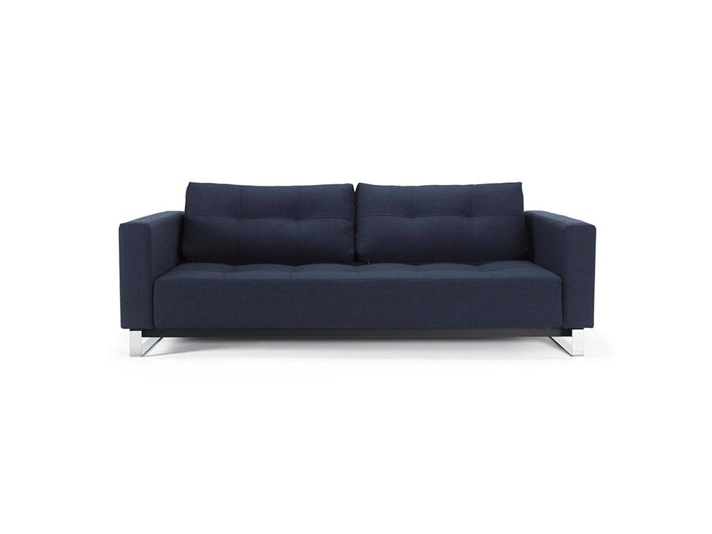 innovation cassius deluxe klappsofa dance blue mixed f e chrom. Black Bedroom Furniture Sets. Home Design Ideas