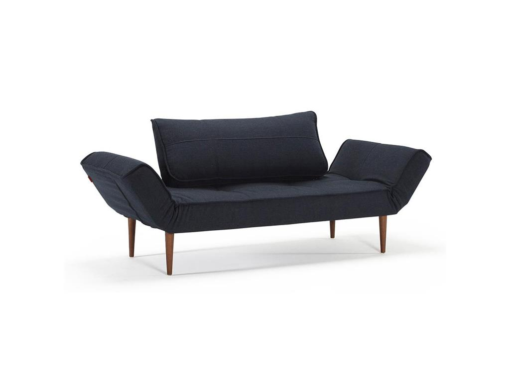 innovation zeal sofa dunkelblau mit stylettobeine dunkel. Black Bedroom Furniture Sets. Home Design Ideas