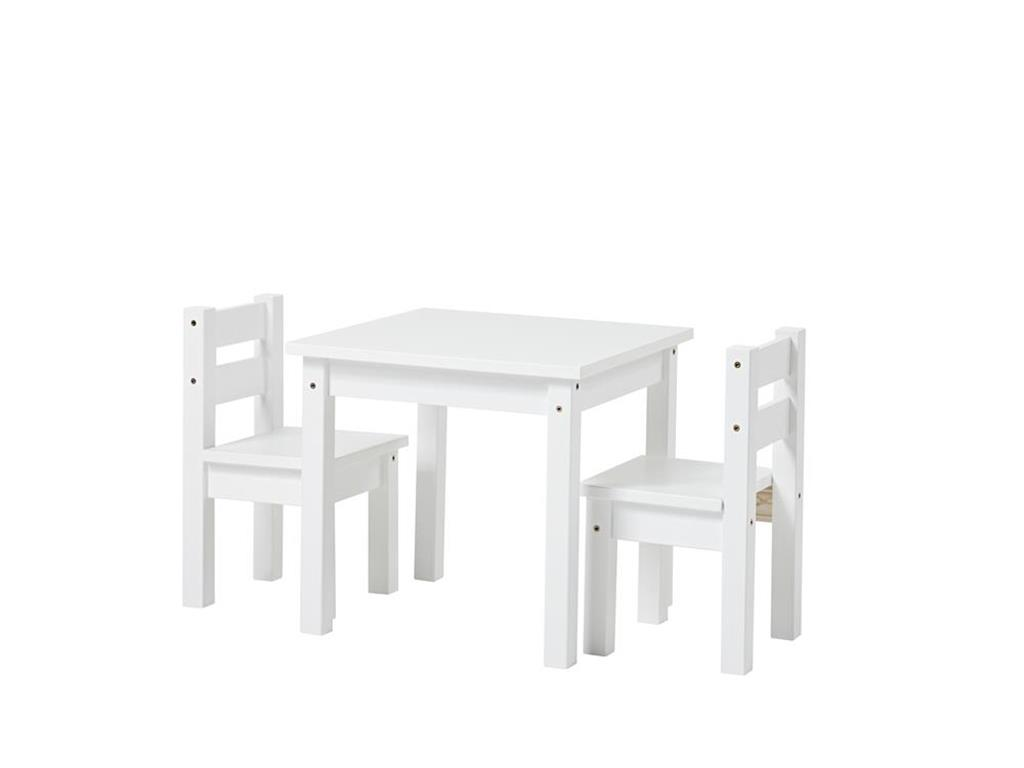 hoppekids kinder sitzgruppe 3 teilig 2st hle 1 tisch wei. Black Bedroom Furniture Sets. Home Design Ideas
