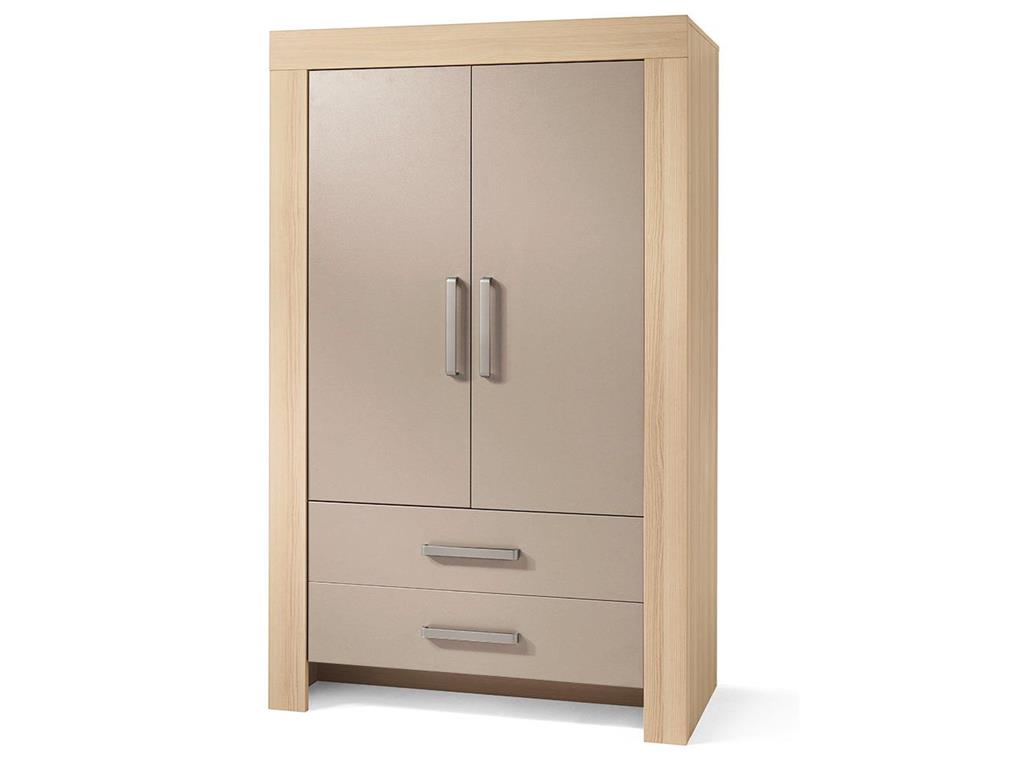 wellem bel kleiderschrank lasse mit 2 t ren esche sandgrau wellem bel. Black Bedroom Furniture Sets. Home Design Ideas