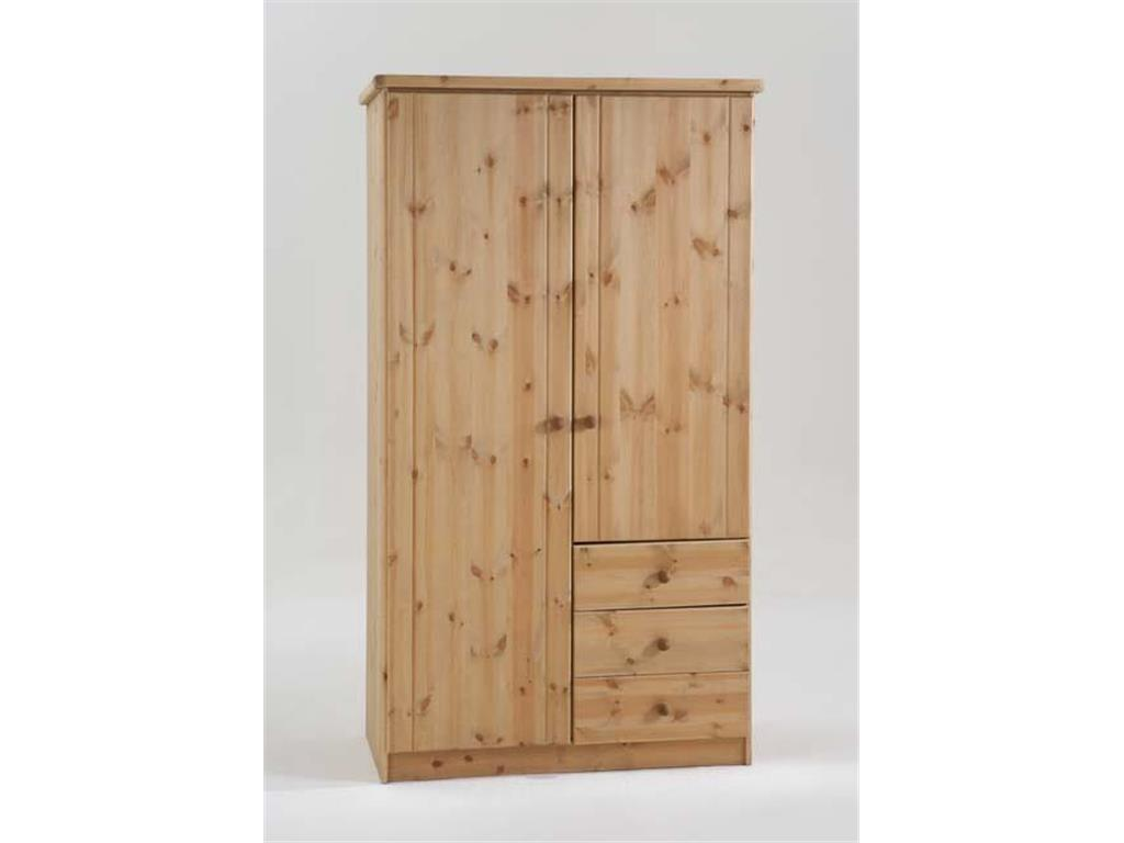 dolphin kleiderschrank wei 2 t rig h he 185cm kiefer. Black Bedroom Furniture Sets. Home Design Ideas