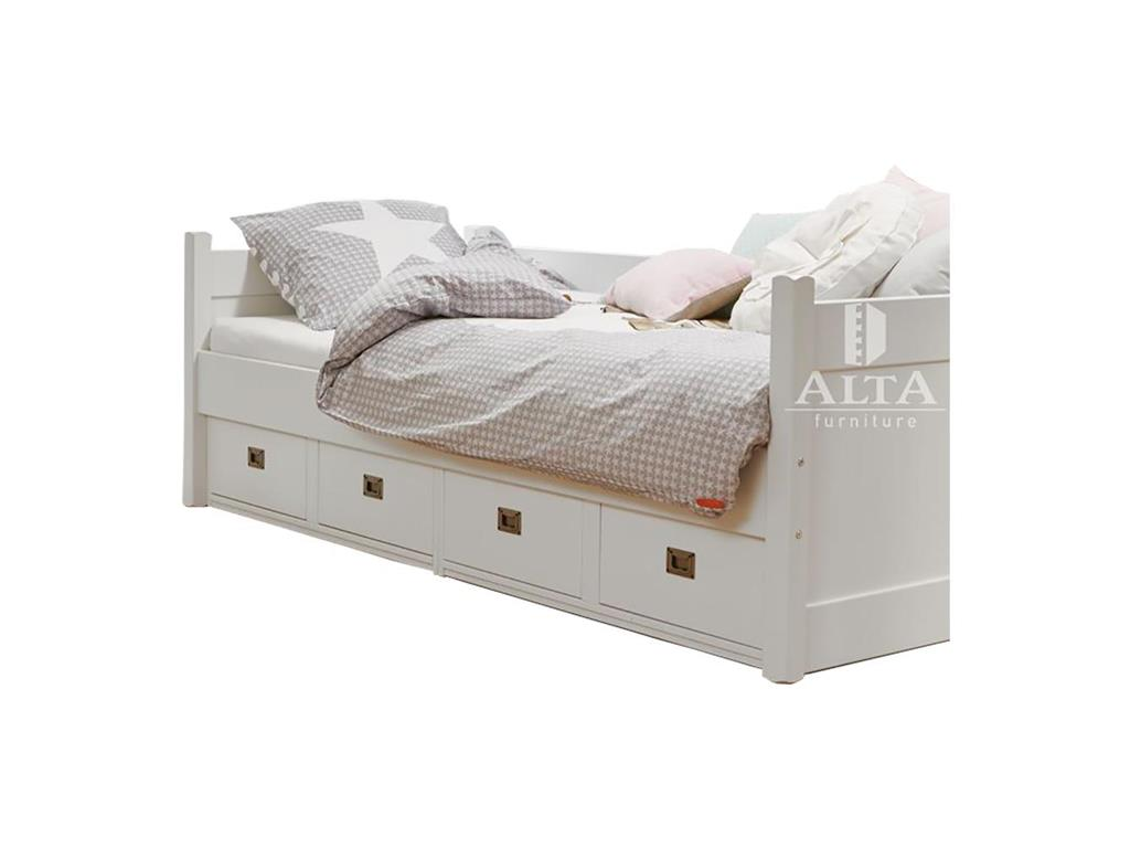 alta furniture kojenbett mit 4 schubladen snow white 90x200cm. Black Bedroom Furniture Sets. Home Design Ideas