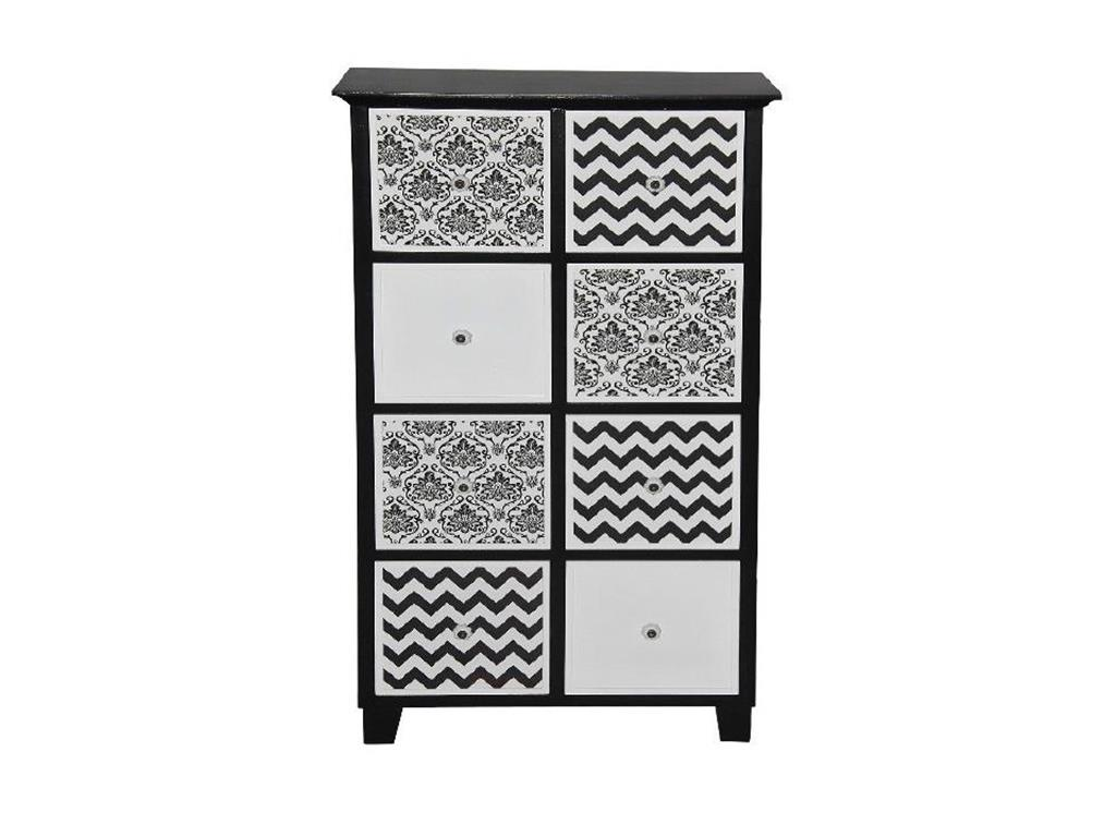 bhp best home products kommode schwarz wei mit 8 schubladen. Black Bedroom Furniture Sets. Home Design Ideas