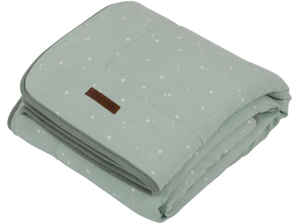 LITTLE DUTCH Little Stars Decke Pure&Soft Mint ...