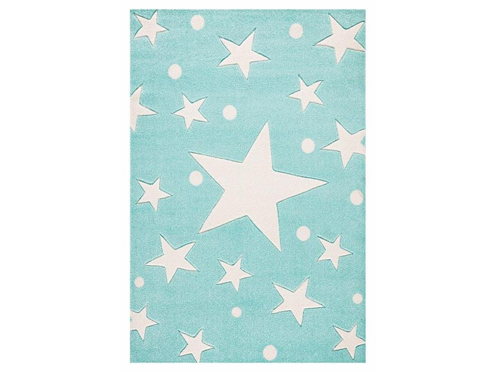 livone happy rugs teppich stars mint 200x300cm. Black Bedroom Furniture Sets. Home Design Ideas